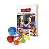 Kinderleichte Becherküche: Band 1 (2. Auflage 2020) 'Für die Backprofis von morgen'   Backset inklusive 5 bunten Messbechern   Mit 15 leckeren Rezepten rund ums Jahr