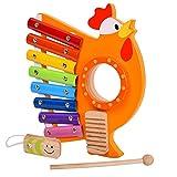Gusengo Holz Xylophon Spielzeug, Holz Xylophon Für Kinder - Kinder Pädagogische Musik Instrument Spielzeug Holz Xylophon Percussion Spielzeug Mit 1 Holzhammer
