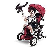 GST Dreiräder Kinder Dreirad Jungen & MädchenFoldable Zwei-Wege-Sitzen Baby-Kinderwagen mit Markise, Kinder Fahrrad für 2-5 Jahre alt, Kind Trike