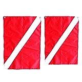sharprepublic 2X Große Kleine Rot Weiße Taucher Flagge mit Tauchflagge Sicherheitstauchausrüstung
