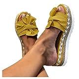 Damen Sandalen,Lässige Damen Sommer Flache Schuhe Plateau Flat Heel Elegant Espadrilles Römersandalen Pantoletten Peep Toe Flip Flop Schuhe Strandsandalen Frauen Anti-Rutsch-S