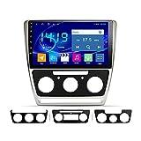 Android-Auto Multimedia-Player GPS-Navigation für Skoda Octavia 2007-2014 Auto-Head-Gerät SAT NAV-Radio-Stereo-Empfänger mit MirrorLink Bluetooth WiFi USB AUX Touchscreen, 4 Core 4G + WiFi: 2 + 32 GB