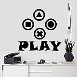 Spiel Wandtattoo Video Controller Aufkleber Gamer Geschenk Aufkleber Junge Dekoration Kinderzimmer Aufkleber Gamer Wandkunst Aufkleber A5 57X54CM