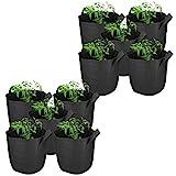 mumbi 10x Pflanzsack Pflanzentasche Pflanzen Sack Tasche Smart Grow Bag Vliesstoff mit Griffen 11 Liter