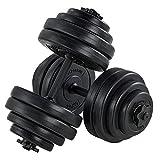 ArtSport Hantelset 30kg | Kurzhantel Set mit 2 Kurzhanteln 25 mm gerändelt, 16 Gewichte und Sternverschlüsse | Kurzhantelset H