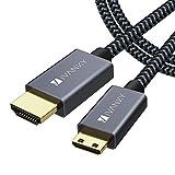 4K Mini HDMI auf HDMI Kabel, iVANKY HDMI-Kabel 2M, Mini HDMI auf HDMI, Unterstützt 3D, UHD, HDR, HDCP, Audio-Rückkanal, HDMI-Ethernet-Kanal, Dolby TrueHD und DTS-HD Master Audio - Dunkelg
