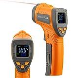 Inkbird Infrarot Thermometer, Temperaturmessgerät IR Pyrometer Laser Digital Thermometer -50°C bis 550°C Berührungslos mit Farbe lcd Alarmfunktion Einstellbarer Emissionsgrad Küche Drinnen/Draußen