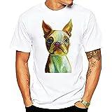 Freizeitshirt Herren Basic Rundhals Lose Kurzarm Herren T-Shirt Sommer Persönlichkeit Mode Tier Druck Herren Shirt Sport Moderner Trend Herren Streetwear A-01 XL