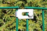 Eckverbinder, Verlängerte Schwere Schelle Für Gabionen, Zaun, Doppelstabmatten, Komposter, Hochbeete und Holzmieten aus deutscher Fertigung (12)