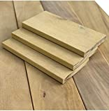 Terrassendielen Garapa 14,95€/m Terrassenbelag Terrassenholz Dielen Massivholz (21x144x1220mm) glatt/glatt