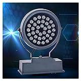 BDSHL LED Flutlicht Drehlampengehäuse IP68 Wasserdichtes Energiesparendes Bühnenlicht für den Außenbereich Außenstrahler Außenbeleuchtung Architekturbeleuchtung (Color : 6-Yellow Light, Size : 18w)