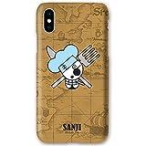 3D Totenkopf Hard Case mit One Piece Charakter für Apple iPhone Xs Max (Sanji)