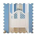 Schwingtüren Innentüren Schiebetür, Massivholz Bar/Esszimmer/Wohnzimmer/Veranda/Gang Partition, Innen Dekoration Zauntür, Automatisch Herunterfahren, Anpassbar (Color : White, Size : 75x90cm)
