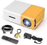 Mini-Projektor, tragbarer Vollfarb-LED-Videoprojektor, 1080p, Full-HD-Unterstützung, kompatibel mit Smartphone/Tablet/Laptop/PS3/PS4/TV-Stick für Heimkino