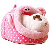 LEFTSTARER Meerschweinchen-Bett Spielzeug Käfig Haus Zubehör Nest Igel Hamster Supplies Sugar Glider Frettchen Ratten Bett Spielzeug Kleine Haustiere Tiere (3L)