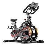UIZSDIUZ Home Gym Upright Exercise Fitnessräder Innen Übung Radsporttraining Bike mit Tablet-Unterstützung, einstellbare Lenker, Elbow Tray & Comfortable Sitz