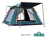 pwmunf Outdoor wasserdichte Zeltfamilie Camping Automatisches Zelt 4 Personen Großraum Atmungsaktive Zelte (Color : Green, Size : 215x215x142cm)