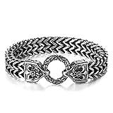 EzzySo Armband-Eisenseil, europäische und amerikanische Mode, Titan-Stahl-Armband, geeignet für Ritter, Halloween, Partys, Feriengeschenke (einschließlich Geschenkboxen),A