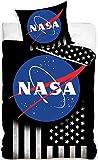 NASA Bettwäsche Wendebettwäsche Set , 2-teilig , 135 x 200 cm , 80 x 80 cm , 100% Baumwolle, Linon