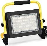 Lamps Arbeitsleuchte LED-Flutlicht 50W LED-Wiederaufladbare Arbeitsscheinwerfer |IP65 wasserdichtes Außen-Flutlicht mit 16ft / 5m Schnurstecker, für Notbeleuchtung in Garten-Garagen LQHZWYC