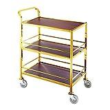 Werkzeugwagen Rollwagen Tee Weinwagen Dessertwagen Hotelservicewagen 3 Lagen Trolley Praktisch
