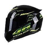 KKmoon Integralhelm Helm Kopfumfang 59-60cm Motorradhelm Street Helm Unisex Adult für Motorrad L SSchwarz&Grün