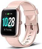 Smartwatch, Damen Herren Fitness Armbanduhr, Smart Watch IP68 Wasserdicht Fitness Tracker, 1.3' Touchscreen Fitnessuhr mit Schrittzähler, Schlafmonitor, Musiksteuerfunktion Sportuhr für iOS Android