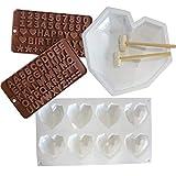 AVEE Valentinstag-Form Herz-Form für das Backen Schokolade Backen Werkzeuge für Kuchen Form Silikonform Set Pan Silikonform Kuchen