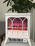 FTFTO Wohngeräte Elektrischer Kamin Elektrischer Kamin mit 3D-Flammeneffekt und Holzkamin 1800 W Schlafzimmer Wohnzimmer Esszimmer Tragbarer elektrischer Kamin schwarz