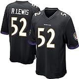 Nmaby Football-Trikot, Baltimore Ravens, Ray Lewis #52, American Football, Herren, Rugby, T-Shirt, Poloshirt, unisex, atmungsaktiv, Freizeit, Sport, Schwarz , xxxl