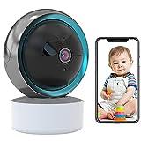 Babyphone WLAN IP Kamera Überwachungskamera Innen Automatische Verfolgung WiFi Haustier Kamera HD 1080P,arbeitet mit Alexa Nachtsicht,iOS/Android,APP-Alarm,2-Wege-Audio,Bewegungserkennung 【Kamera】