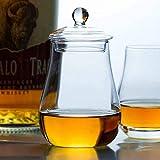 AOIWE Whisky Decanter International Standard Scotland Whiskyglas mit Deckel Reisen Tragbare Nosing Felsen Gläser Whisky Tumbler Wine Cups (Color : B)