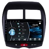 AEBDF Android 10.0 Autoradio für Mitsubishi ASX 2013 Outlander GPS-Navigationsradio mit 10,1-Zoll-Bildschirm Navi Head Unit,4 Core WiFi 1+16 (Ultra Thin)