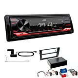 JVC KD-X172DB 1 DIN Autoradio Digitalradio DAB USB AUX passend für Audi A4 2002-2009 schwarz mit Symphony/Navi Plus