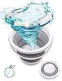 Mini-Waschmaschine, SHIKING® Tragbare faltbare Wäschewanne, USB faltbare Ultraschall-Turbinenwaschmaschine für Zuhause/Reisen/Wohnungen/Schlafsäle