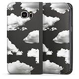 DeinDesign Klapphülle kompatibel mit Samsung Galaxy S7 Edge Flip Case Handyhülle aus Leder schwarz Wolke Motiv ohne Hintergrund Natur