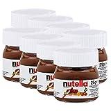 Ferrero Nutella Kleines Mini Design Glas 8er Set a 25g, Brotaufstrich, Nussnugatcreme, Schok