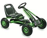 Lean Kinder Go Kart Racing Car Full Speed Tretauto Gokart grün ab 4 Jahren mit Vollgummireifen