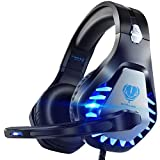 Pacrate Gaming Headset für PC, PS4, PS5, Xbox One, Xbox Series X, Laptop, 3.5mm Kopfhörer Kinder LED Licht