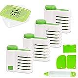 4-teiliges DIY-Kuchenschneider-Set, verstellbar, 5-lagige Nivellierhilfe, Fixierwerkzeug mit 3 Kuchenschabern, 1 Kuchen-Dek