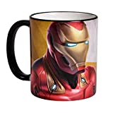 Elbenwald Marvel Tasse Avengers Endgame Iron Man Rundumdruck 320 ml Keramik gelb rot
