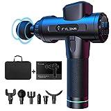 FYLINA Massagepistole, Massage Gun,Tiefen massagegerät mit 30 Geschwindigkeiten, LED-Anzeige-Touchscreen Massagepistole, elektrisches Handmassagegerät mit 6 Massageköpfen für Nacken Schulter Rücken