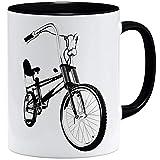 OM3® Bonanza Fahrrad Tasse || | Keramik Becher | 11oz 325ml | Beidseitig Bedruckt | Schwarz