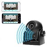 Auto Rückfahrkamera WiFi Magnetische Kamera Wasserdicht IP68-Backup-AutoKamera mit intelligenter APP kompatibel mit Android und iPhone Nachtsicht für Kfz, SUV, Van, Anhänger (Black)