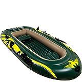 BESISOON Aufblasbares Kajak Gummiboot Dicke Verschleißfest 2 Person Doppelt Aufblasbares Boot Kayak Fischerboot Extra Dicke GummibootSchlauchboot Zum Bootfahren