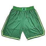 ZGRW Celtics Basketball-Shorts, Klassische Männer Basketball-Shorts Retro gestickte Jersey-Shorts - Alltagskleidung Green-S