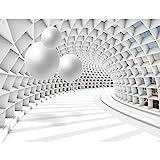 Fototapeten 396 x 280 cm 3D Abstrakt | Vlies Wanddekoration Wohnzimmer Schlafzimmer | Deutsche Manufaktur | Weiss 9223012c