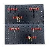 Cozyel Werkzeuglochwand aus Metall, Werkzeugwand Lagersystem mit 40 teilge Hakenset, 90x45cm Warkzeuglochwand Werkstattregal, Werkzeugwand Lochwand mit Werkzeughaltern für Werkstatt, Schwarz, 2 Stück