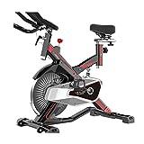 UIZSDIUZ Upright Exercise Fitnessräder Innen Übung Radsporttraining Bike mit Multi-Funktions-LCD-Anzeige, einstellbare Lenker, Elbow Tray & Comfortable Sitz
