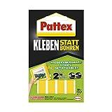 Pattex Kleben statt Bohren Klebe-Strips, starkes doppelseitiges Klebeband, ablösbare Klebestreifen, Kleber sichert Objekte dauerhaft ohne Bohren, 10 Streifen je 20 x 40mm